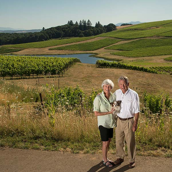 Eola-Amity American Viticultural Area with Cherry Hill Winery Owners