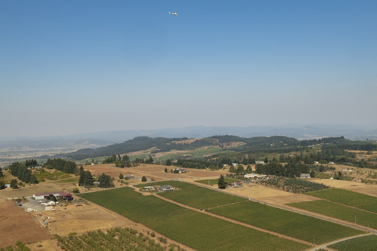 Helicopter Oregon Wine Tasting Trip