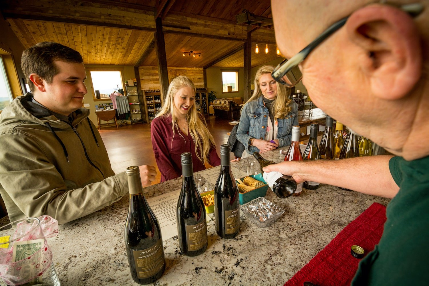 J. Wrigley Tasting Room in Oregon Wine Country
