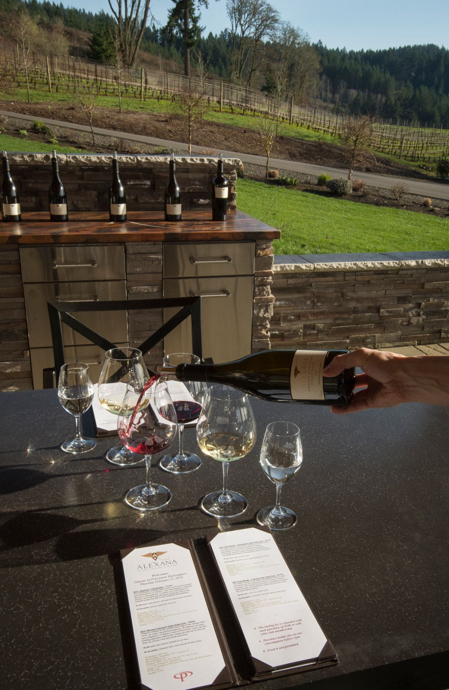 Wine varietals tasting in Oregon
